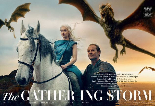Daenerys Targaryen and Jorah Mormont ~ Game of Thrones Vanity Fair Photograph by Annie Leibovitz (with Text)