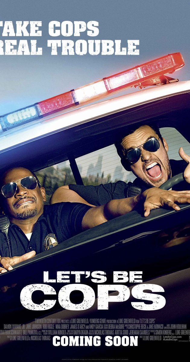 "Let's Be Cops (2014): Two struggling pals dress as police officers for a costume party and become neighborhood sensations. But when these newly-minted ""heroes"" get tangled in a real life web of mobsters and dirty detectives, they must put their fake badges on the line."
