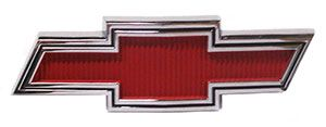 EMBLEM, 67-68 TRUCK GRILL (RED)  Camaro Parts/Chevelle Parts/El Camino Parts/Nova Parts/67-72 Chevrolet Truck Parts/Accessories/Automotive/Restoration/Used Parts/Consignment Muscle Cars/Rancho Cordova/916.638.3906