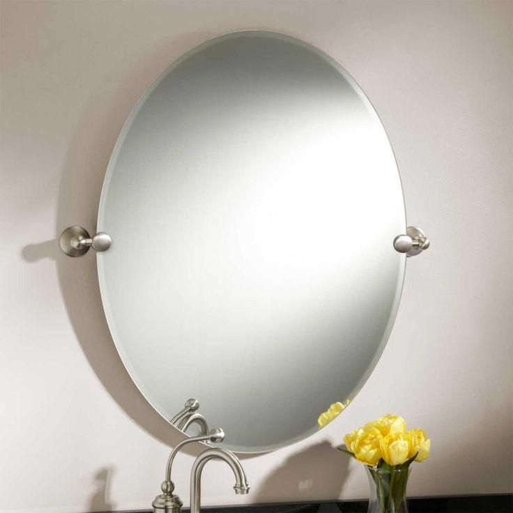 Oval Tilt Bathroom Mirrors
