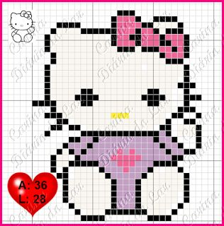 Hello Kitty perler bead pattern