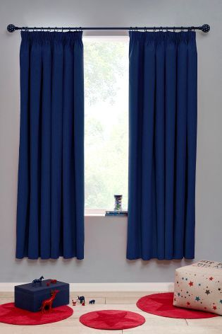 Buy Blackout Pencil Pleat Curtains from the Next UK online shop