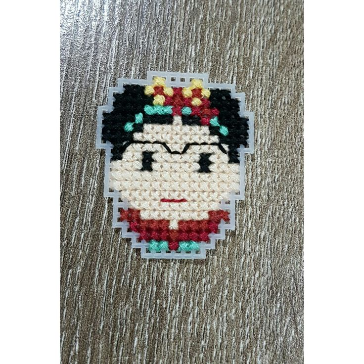Frida Kahlo Cross Stitch #fridakahlo #frida #crossstitch #kahlo