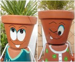 17 best ideas about clay pot people on pinterest flower - Decorer un pot en terre cuite ...
