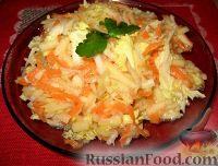 Фото к рецепту: Салат из пекинской капусты и свежей моркови