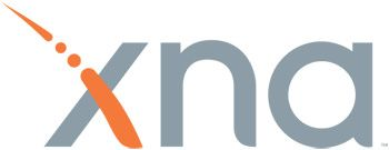 """XNA""  XNA is a set of tools Microsoft came up with for games development. The orange dashed line that makes up one of the 'X' strokes is actually Morse Code spelling out XNA. _.._ is X, _. is N, and ._ is A."