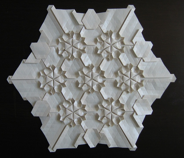 origami tessellation snowflake