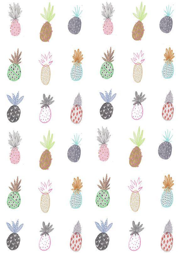 Amyisla Mccombie/ Wall art. home decor.Limited Edition prints.Pineapple print Wall decor. Illustration.art print.