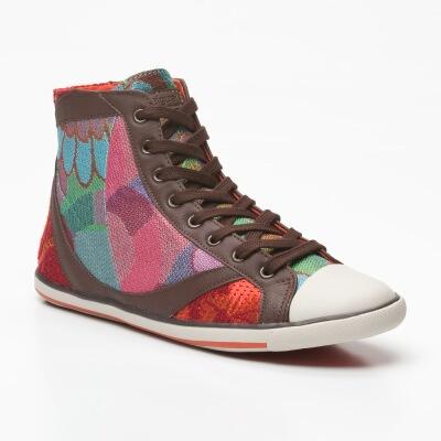 Zapatillas altas marrones, azules y multicolor