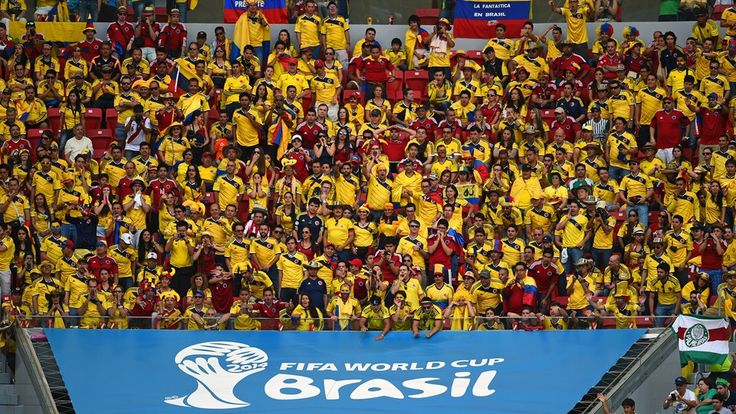 Colombia fans enjoy the atmosphere