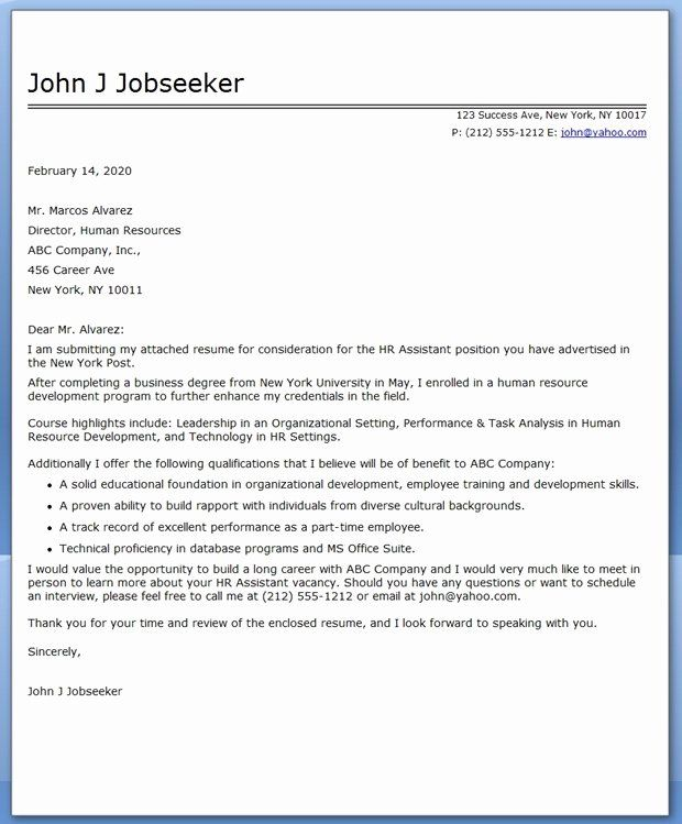 Cover Letter For College Unique College Grad Cover Letter Sample Teacher Resume Examples Cover Letter For Resume Resume Examples College cover letters examples
