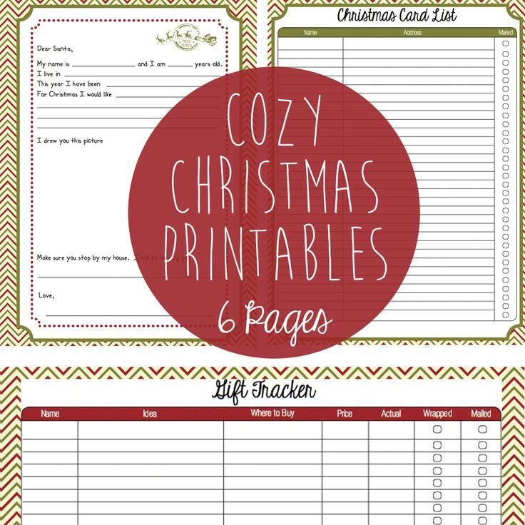 Christmas printables including letter to Santa