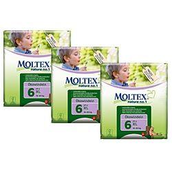 Moltex Nature No1 Extra Large Box ~ (81 nappies) ~ 3 packs ~ SAVE £3.76
