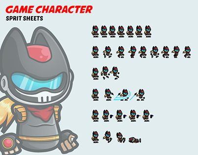 """Check out new work on my @Behance portfolio: """"Game Character Spritesheets"""" http://be.net/gallery/44568279/Game-Character-Spritesheets"""