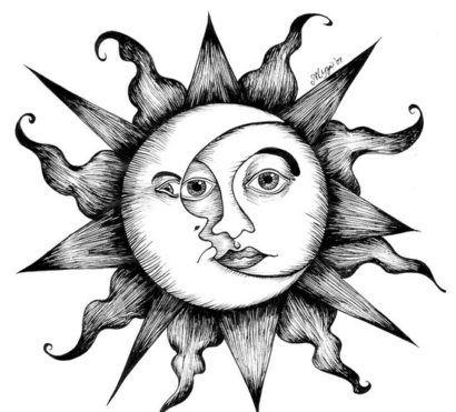 desenhos tatuagens sol e lua