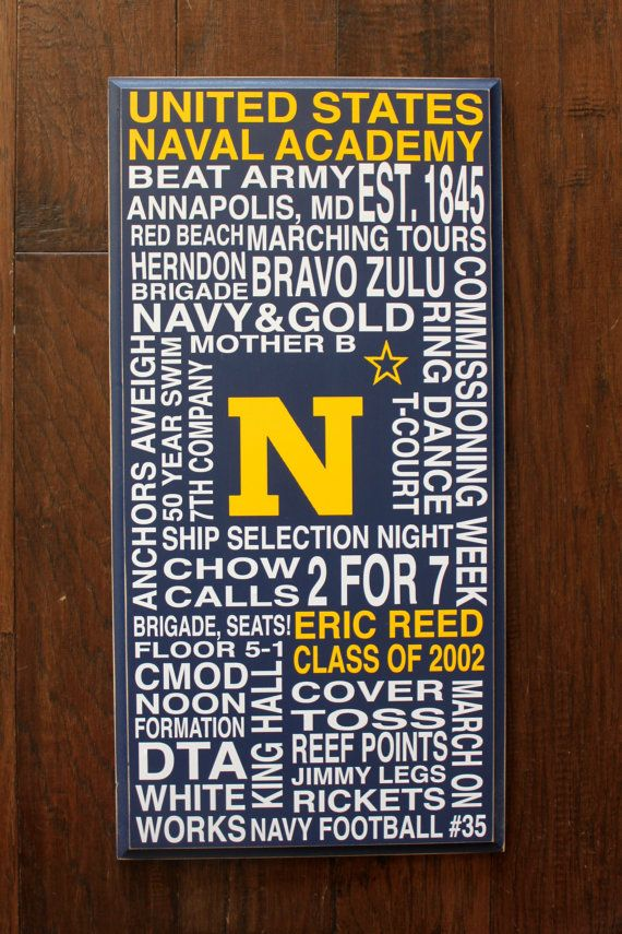 Naval Academy subway art board or by PersonallyPoshDesign on Etsy, $45.00