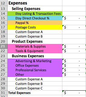 The Etsy Seller Spreadsheet - a bookkeeping template with video tutorials, by Paper + Spark