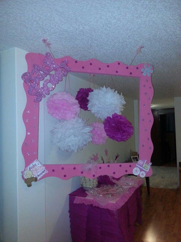 Girl baby shower photobooth