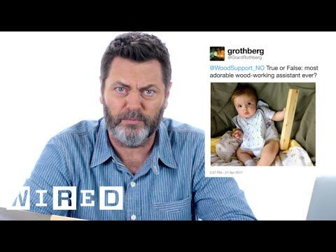 Nick Offerman Answers Woodworking Questions On Twitter Tech Support - Neatorama