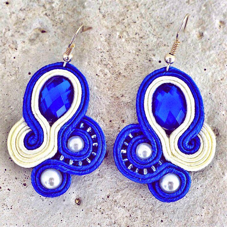 Handmade Zuz design Náušnice deep blue http://femmefashion.sk/zuz-design/2394-nausnice-deep-blue.html