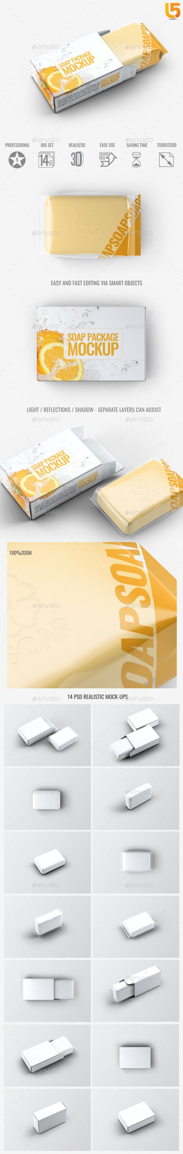 Soap Bar Package MockUp — Photoshop PSD #health #package • Download ➝ https://graphicriver.net/item/soap-bar-package-mockup/18889156?ref=pxcr