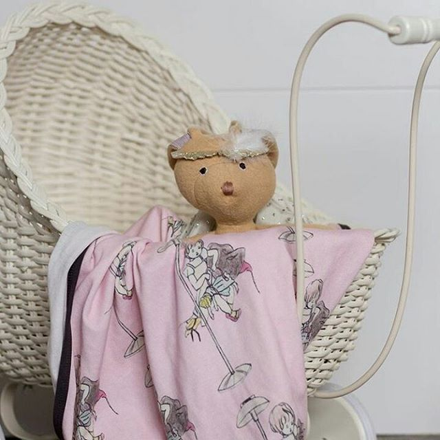 Another gorgeous use for our baby blankets.  Our Little doll blanket looking right at home as a doll blanket