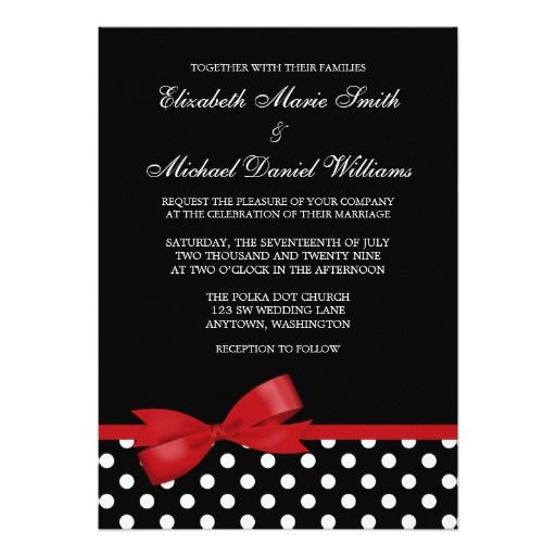 230 Best Polka Dot Wedding Invitations Images On Pinterest Card