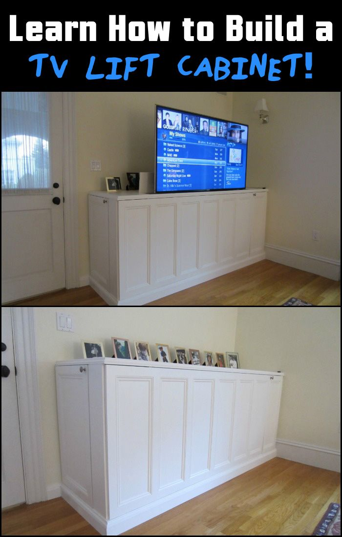 This is a great solution to make flat screen TV disappear when it's not in use. Is this going to be your next project?