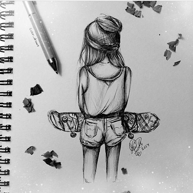 Skater Girl zeichnen/ Kulli