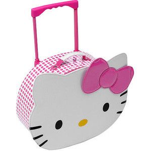Hello Kitty Suitcase White and Pink