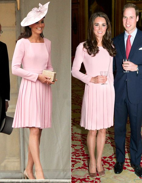 PIC: Kate Middleton Recycles Dress for Tea Party at Buckingham Palace - UsMagazine.com