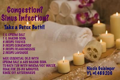 Nasal Congestion And Or Sinus Infection Take A Relaxing Bath Member