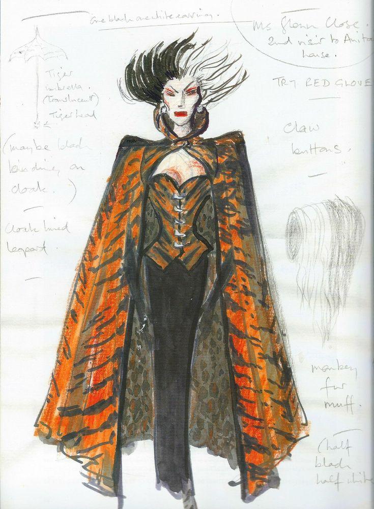 cruella de vil glenn close outfits recherche google fashion costume sketches pinterest. Black Bedroom Furniture Sets. Home Design Ideas