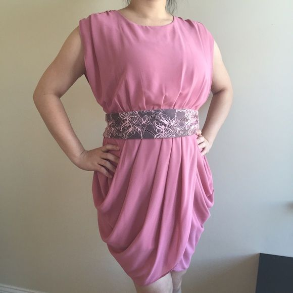 """Light Pink Dress, S, EUC A simple & classy light pink slip on dress with matching waist belt. Size S, my measurements as a reference: 34D, 28"""", 36"""". Length of dress is approx 35"""" when laid flat, fully lined. This dress looks more gorgeous in person, and I have only worn it 5 times, and always have it dry cleaned. Clearing out my closet, and this dress is in EUC. Feel free to ask any questions and thanks for looking. Dresses Midi"""