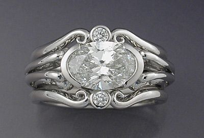 Edwardian style oval diamond ring - how stunning!!!  another one for my Right hand!!!