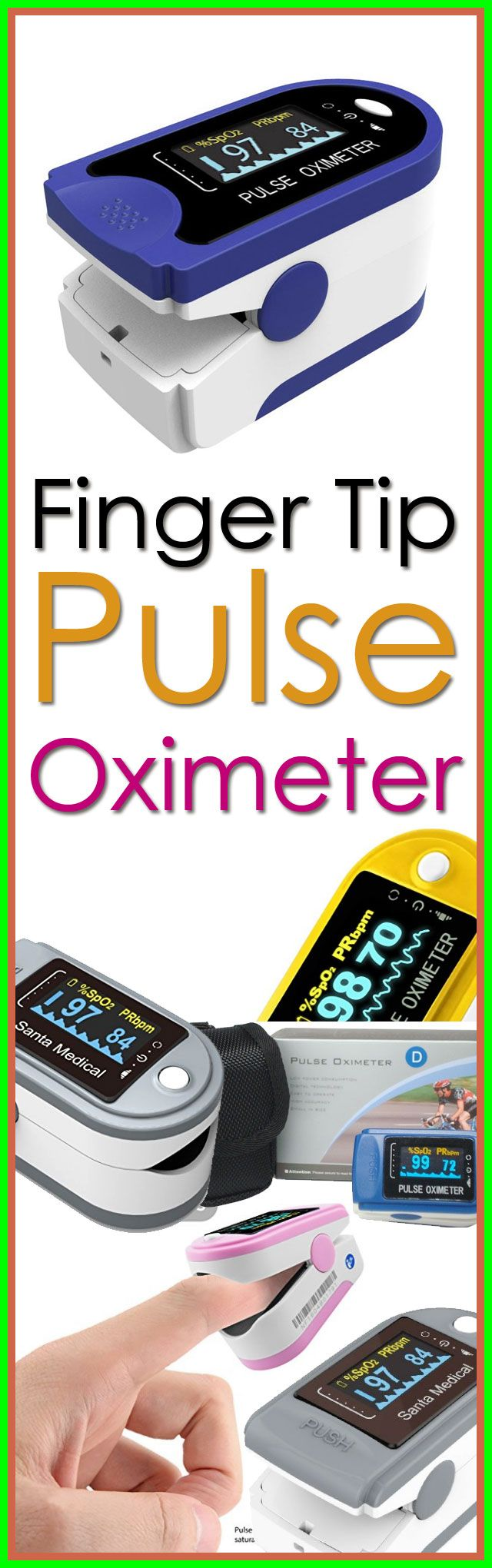 $69.95 Finger Pulse Oximeter is an affordable and accurate way to check pulse rates and blood oxygen saturation levels. Self-adjusting finger clamp plus simple one-button design allows for easy operation. Small portable size makes it easy to handle and carry. Helpful for athletes and pilots to obtain quick and accurate oxygen saturation readings.  Features include an easy to read bright digital LED display, 30+ hours of continuous monitoring on one set of batteries.