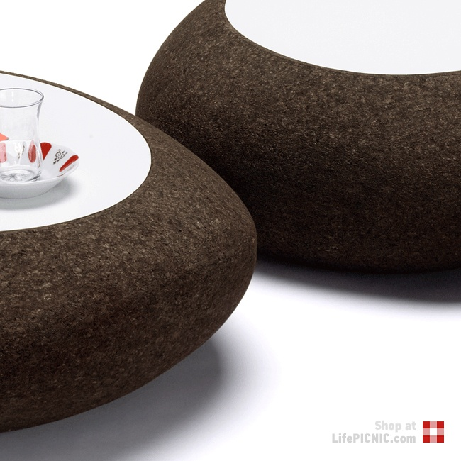 Lasca · Set of 3 Cork Tables · Materia Amorim