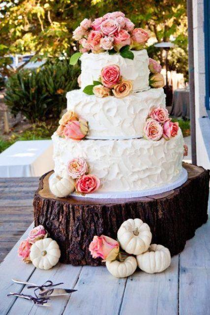 22 Fun Pumpkin Wedding Cake Ideas For Fall