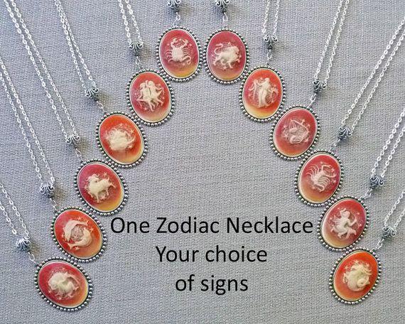 Zodiac Jewelry Zodiac Necklace Aquarius Pisces Aries