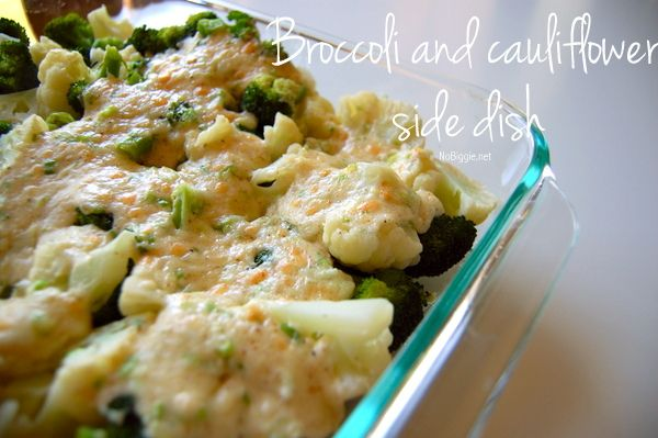 Jazzed up Broccoli and Cauliflower side dish | NoBiggie.net | a gourmet vegetable side dish.