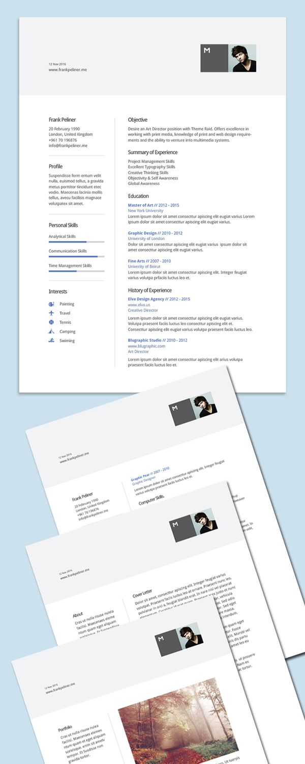 Best Cv  Resume Images On   Design Resume Page