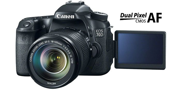 Canon EOS 70D - #1 Top Rated Best Cameras With Flip Screen
