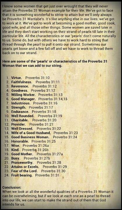 Devotion on proverbs 31 woman i found and had to share..love this take on it !!