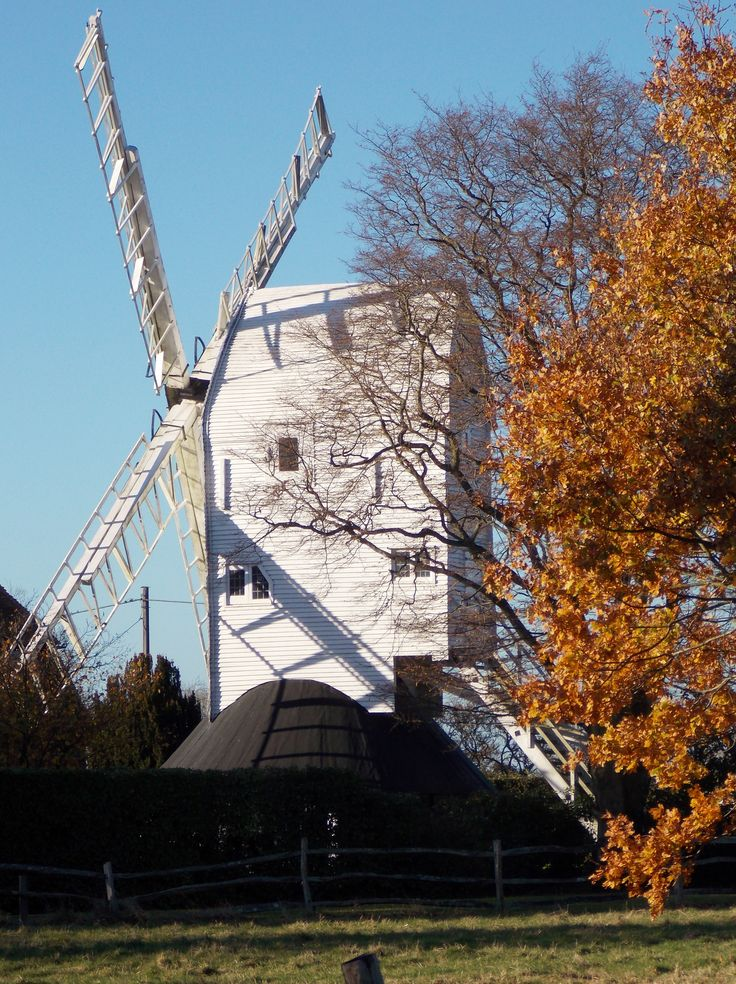 Stocks Mill, Wittersham in Kent, England built in 1781 and the tallest Post Mill in Kent. By B Lowe