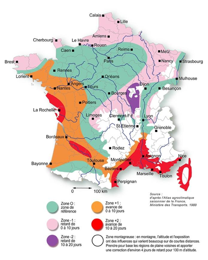 Zones climatiques La France en cartes Pinterest