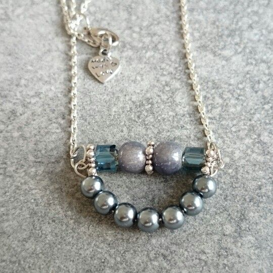 Necklace with Czech beads and crystals.