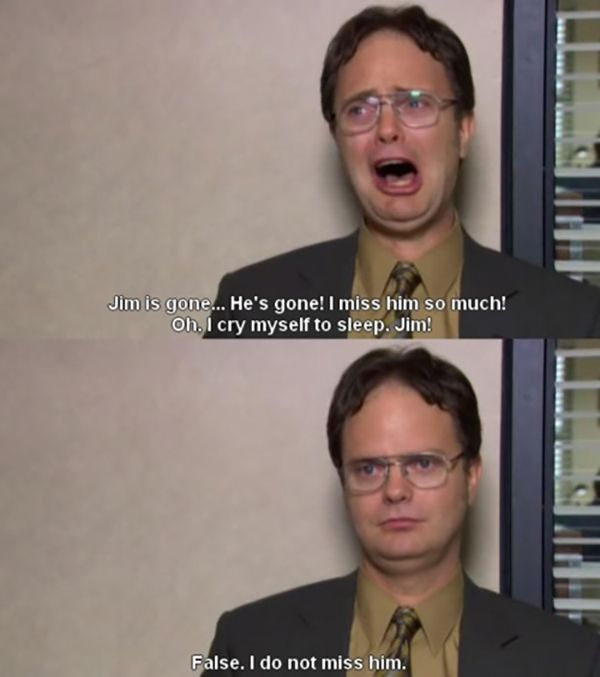 Dwight Schrute // 10 Fun Facts about The Office US // This is me when teachers are absent lol