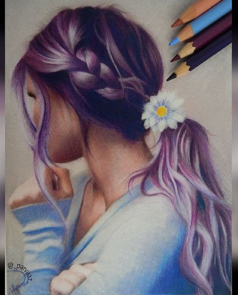 Colored Pencils Drawing Works by Parvaaz