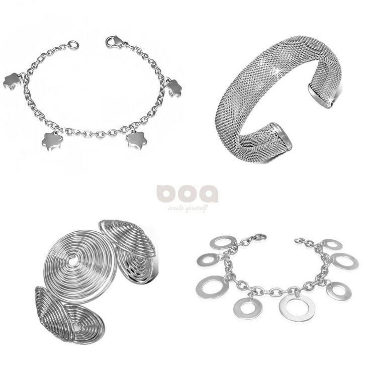 w kolorze srebra - biżuteria ze stali szlachetnej