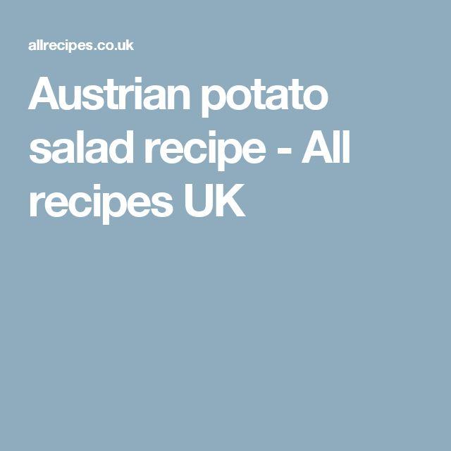 Austrian potato salad recipe - All recipes UK